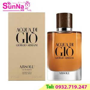 Nước hoa Acqua Di Gio Giorgio Armani Absolu EDP 75ml