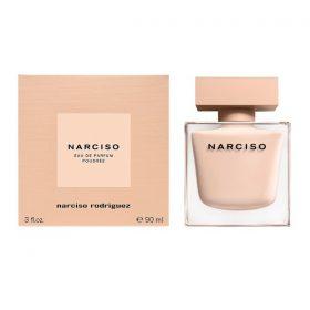review nước hoa Nacriso Poudree chai màu cam