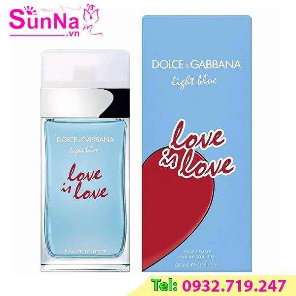 Nước hoa D&g Light Blue Love Is Love Pour Femme EDT 100ml